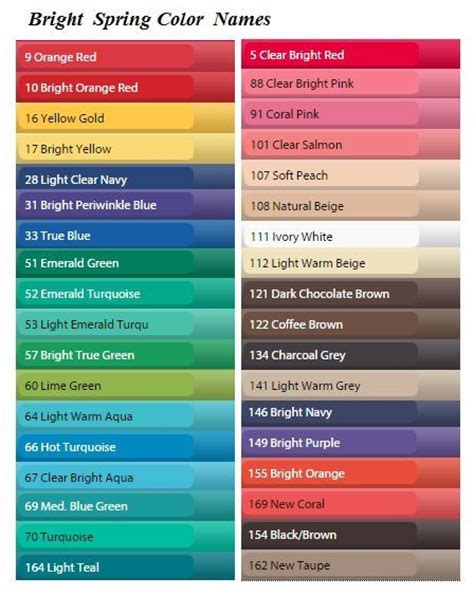 cool color names 781 best images about color analysis all types on