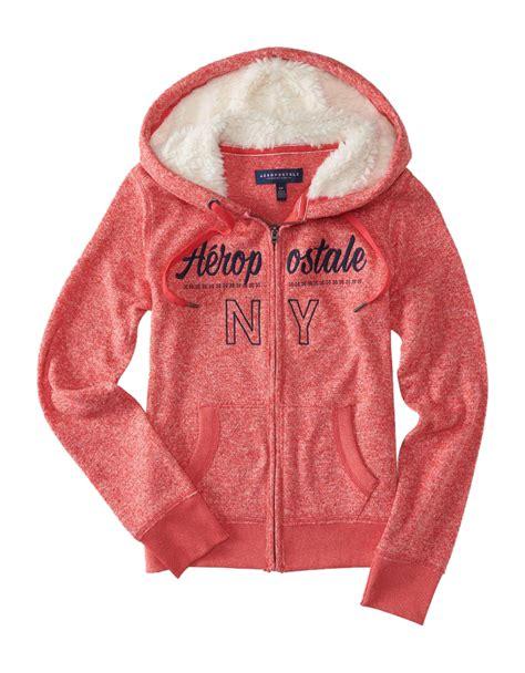 Jaket Zipper Hoddie Sweater Furrii aeropostale womens fur hoodie zip sweatshirt jacket aero sherpa lined ebay