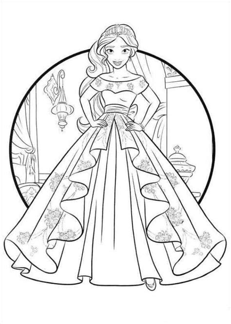 Coloring Page Elena Of Avalor Coloring Pages Pinterest Princess Of Avalor Coloring Pages Free Coloring Sheets