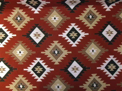 aztec upholstery fabric marson grand nord printed aztec kilim natural red curtain