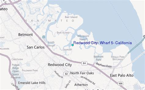 california map redwood city redwood city wharf 5 california tide station location guide