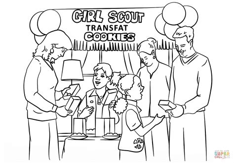 girl scout brownies coloring pages az coloring pages
