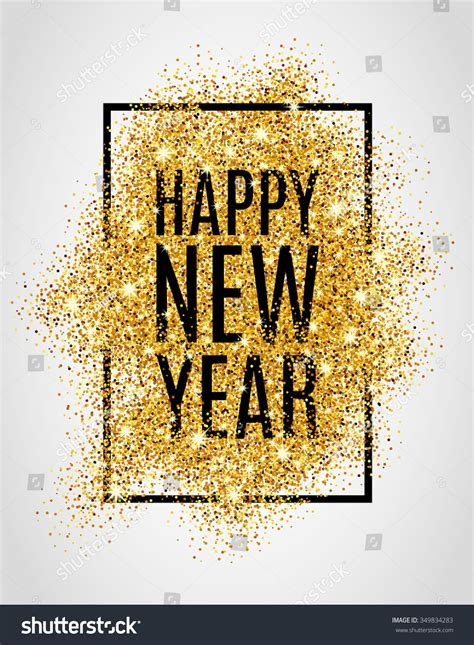new year gold images happy new year gold glitter 2017 stock vector 349834283