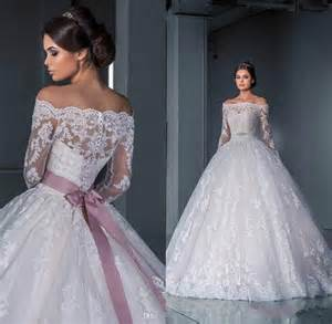 luxurious ball gown lace wedding dresses 2016 off the