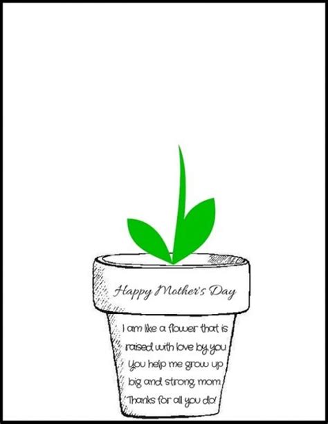 Mothers Day Poems Cards Printable