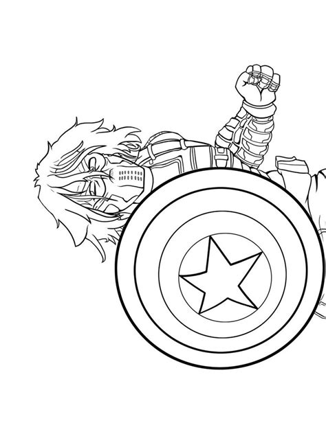 captain america winter soldier coloring pages sketch
