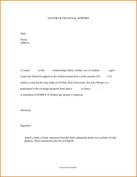 Finance Support Letter How To Write A Support Letter Best Business Template