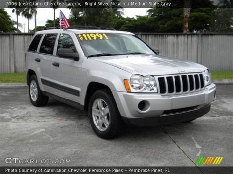 2006 Jeep Grand Silver Bright Silver Metallic 2006 Jeep Grand Laredo