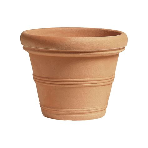 vaso cotto vaso classico finto terracotta cotto argilla doppiobordo