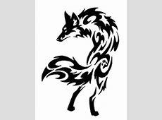 9 Stunning Tribal Fox Tattoos Easy Tribal Animal Drawings