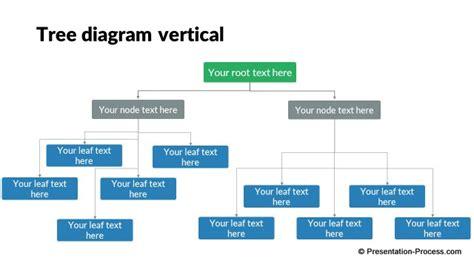 business tree diagram flat design templates powerpoint tree