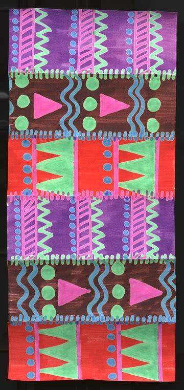 pattern design lesson kente cloth crayola com au
