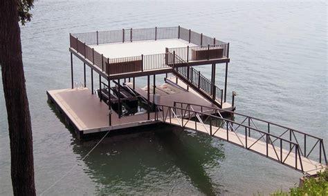 aluminum boat docks why aluminum docks are the best boat docks wahoo docks