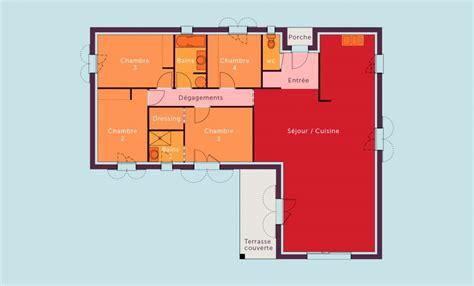 maison plein pied 4 chambres plan maison plein pied 4 chambres 2 plans de maison