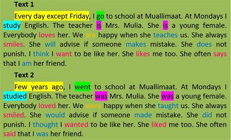 form sentence kalimat lampau english fun