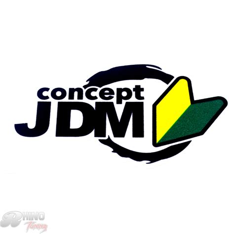 jdm sticker rear new concept jdm lettering emblem car boot trunk rear
