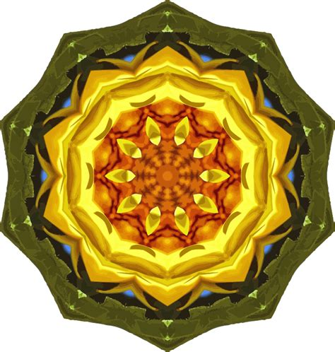 Paint For Office Clipart Sunflower Kaleidoscope 24