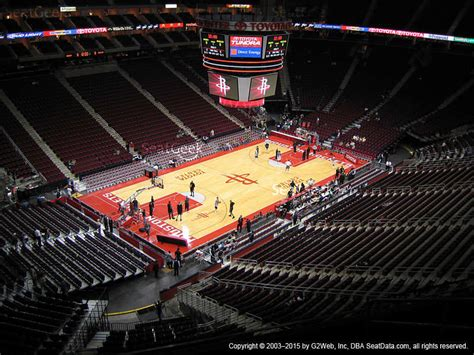 section 103 toyota center toyota center section 102 seat views seatgeek
