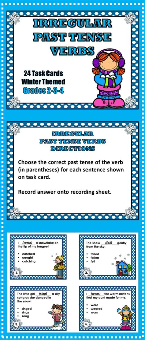 irregular past tense verb cards organized by pattern of change 17 best images about elementary language arts fun on