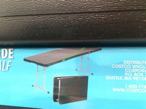 lifetime 4 ft table costco lifetime products 8ft fold in half table costcochaser