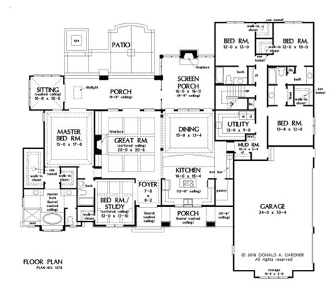 gardner floor plans house plan the roseburg by donald a gardner architects