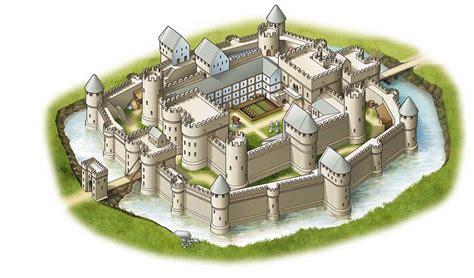 Japanese Castle Floor Plan by The Medieval Times Concentric Castles