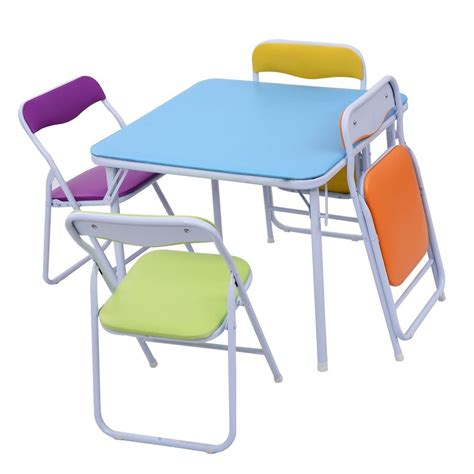 Childrens Folding Table And Chairs Set Home Flash Furniture Colorful 5 Folding Table And Chair Set Cing Ebay