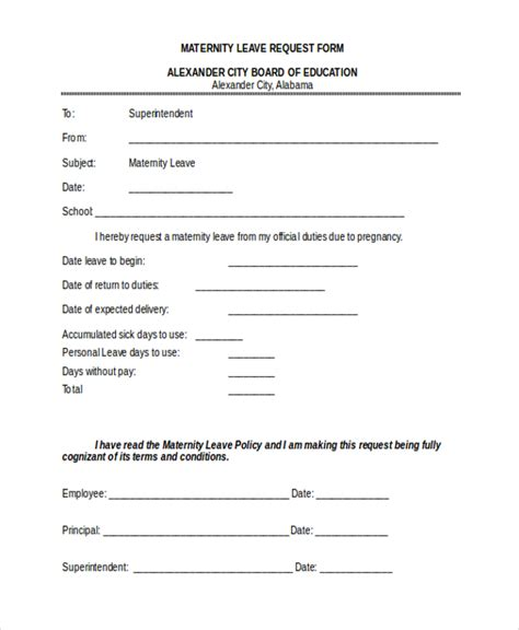 sick leave form template sle leave request form 10 free documents in doc pdf