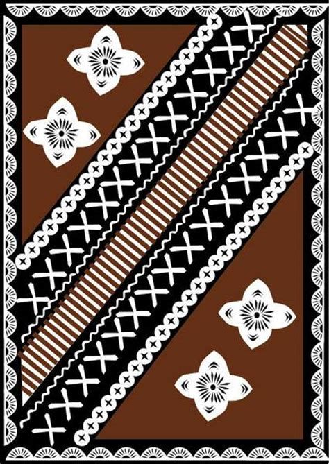 download free fijian tapa design vector free