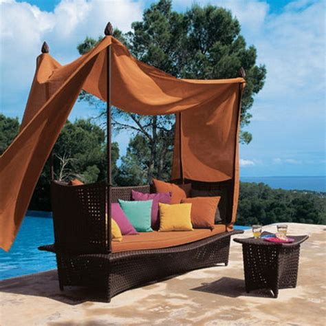 outdoor bed with canopy romantic outdoor canopy beds