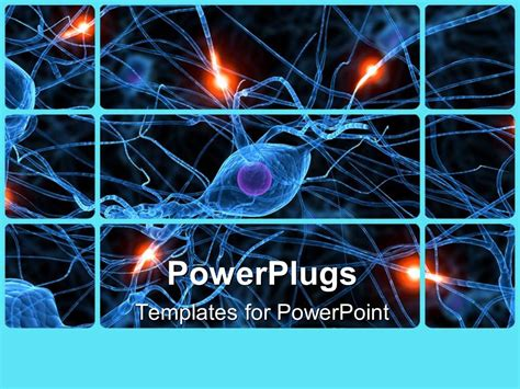 Powerpoint Template Human Nerve Cells Showing Passive Ones And Active Ones Glowing 16789 Cell Powerpoint Template