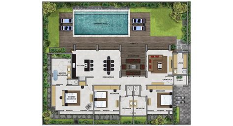 bali villa design floor plan house style and plans