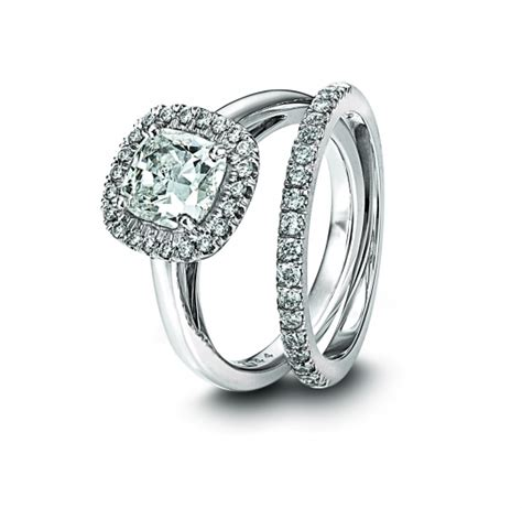 cushion cut engagement ring with pave