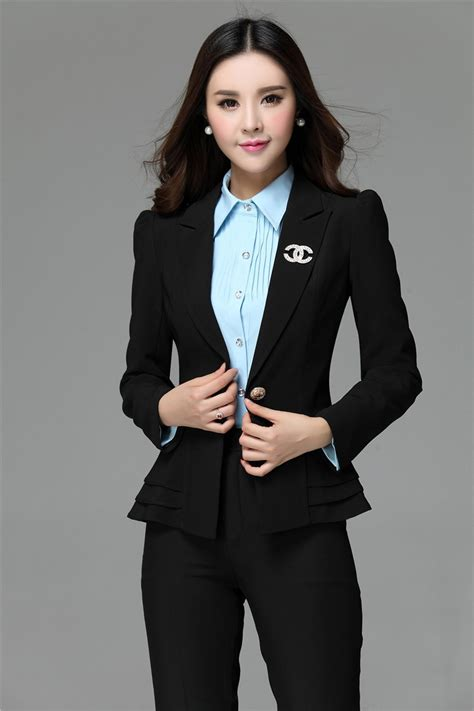 styles for working suits 2018 wholesale women formal work wear suits blazer and