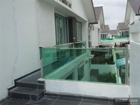 Tempered Glass Balcony balcony tempered fence glass panel with stainless steel