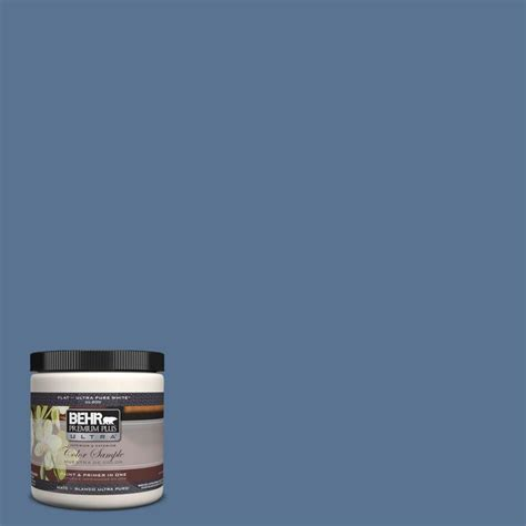 behr premium plus ultra 8 oz ul240 19 laguna blue