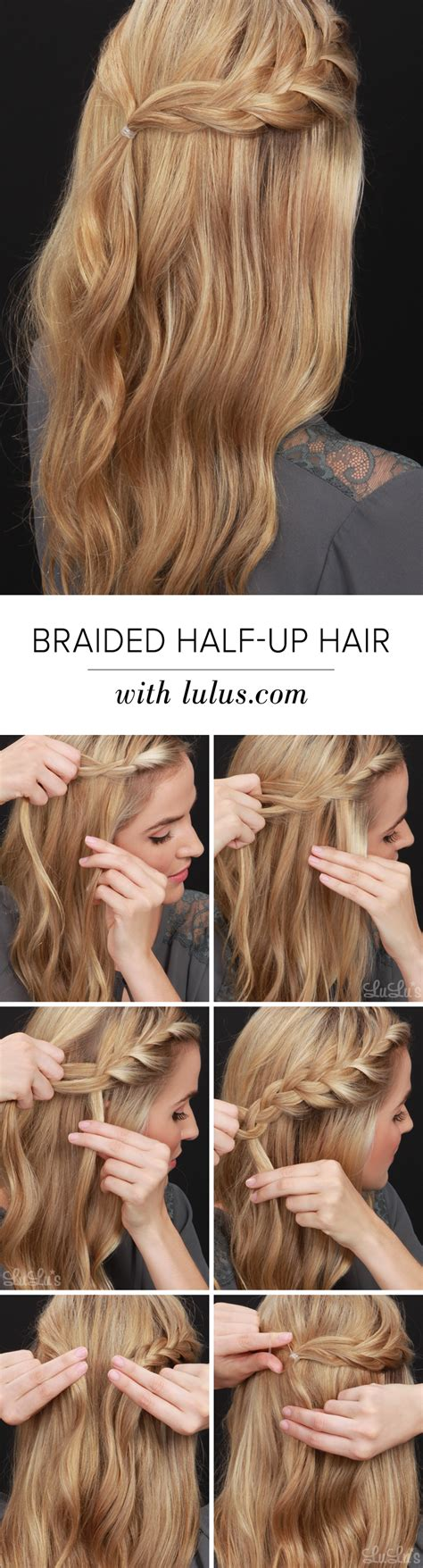 blogger hair tutorial lulus how to half up braided hair tutorial lulus com