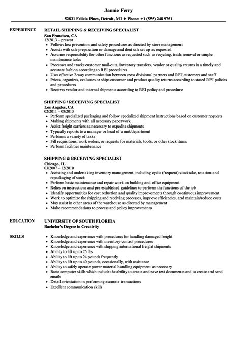Shipping And Receiving Description For Resume by Shipping And Receiving Resume Annecarolynbird