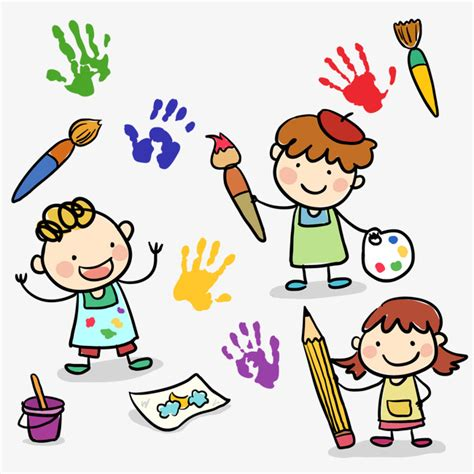 3 Cartoon Drawing Children Vector Material 3 Cartoon Drawing Children Cartoon Painting Children Drawing Pictures For Painting