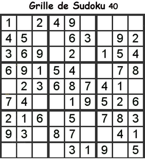 imprimer la grille 40 de sudoku primaire cycle 3