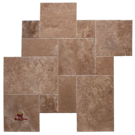 versailles pattern vinyl troy rustico honed unfilled chiseled edge travertine