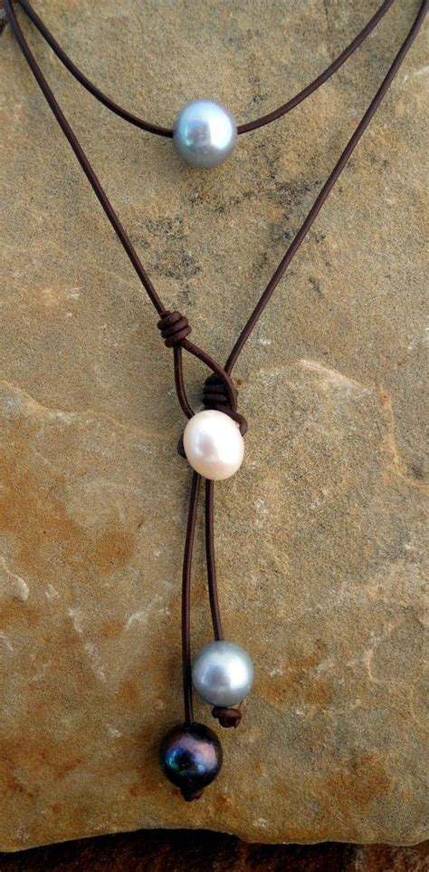 leather and pearl jewelry leather and pearl necklace jewelry inspiration buisiness and tech