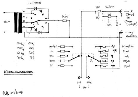 diode curve tracer schematic a simple curve tracer