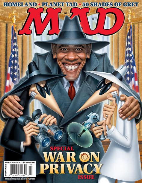 Mad Magazine Obama Cover | mad magazine the war on privacy taking back america