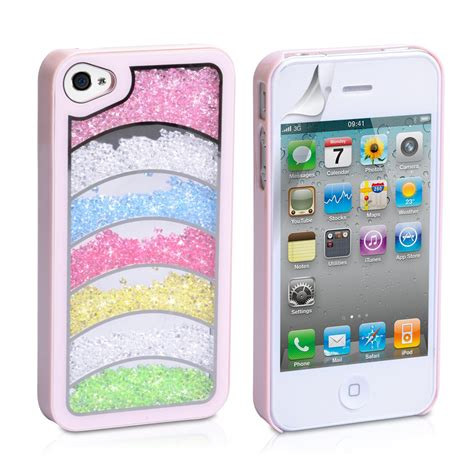 Casing Hp Iphone 4 Iphone 4 S Iphone 5 Iphone 5s Iphone 5c 7 yousave accessories iphone 4 rainbow baby pink