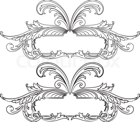 baroque designs baroque design element traditional style all separately stock vector colourbox