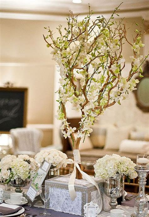 white branches centerpieces wedding centerpiece ideas weddings romantique