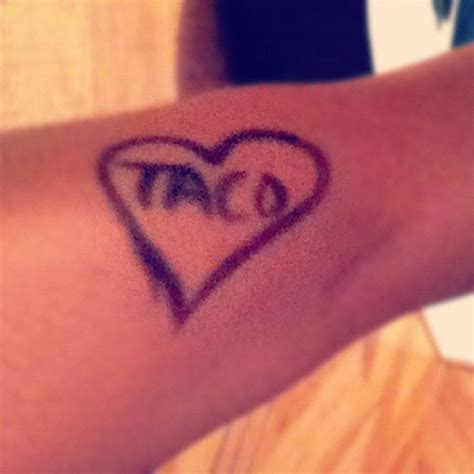 taco tattoo taco looks temporary though photo credit