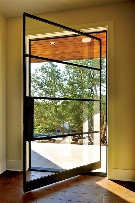 modern glass door portella custom steel doors and windows
