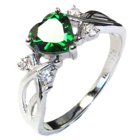 princess cut emerald green promise ring promise rings
